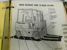 Caterpillar M60-M100 Forklift Parts Service Manual Maintenance Book (E3-2103)