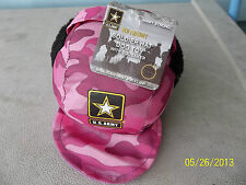 PINK Camo US Army Soldier Licensed HAT Dog Tug Fetch Squeaky Play Toy  NWT