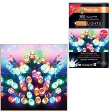 Premier 100 Christmas Battery Timer LED Lights Indoor or Outdoor - MULTI COLOUR