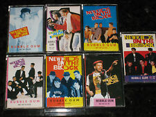 lot of 7 New Kids on the Block 1990 Topps Bubble Gum Candy Cassettes NKOTB