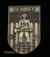 SEABEES HAT LAPEL PIN UP WWII SEABEE US NAVY USN SEA BEE BADGE VETERAN GIFT WOW