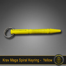 Krav Maga Self-Defence SPIRAL Yellow Key Ring Solid Steel Tactical