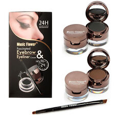 6pcs Set Long Lasting Eyebrow Powder Eyeliner Gel Brush Makeup Waterproof Kit