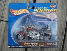 2000 Hot Wheels Motorcycle 1:18 Scale Die Cast Harley Davidson Heritage Softail