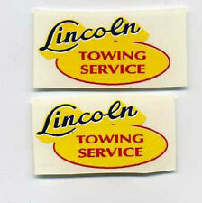Lincoln Toys Towing Service Replacement Decal Set
