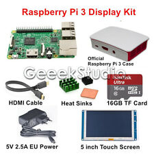 Raspberry Pi 3 Display Kit with 5 inch Touch Screen 16GB Power Official Case