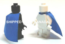 2- BLUE Cape Lego Star Wars Harry Potter Castle King Batman Superman minifig