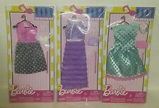 """NEW """"BARBIE"""" Complete Look Fashion Packs 3-Pc Dress Lot: LOW$$, FREE SHIPPING"""