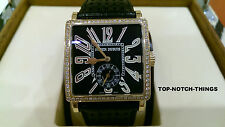 ROGER DUBUIS G37 ROSE GOLD FACTORY DIAMONDS GOLDEN SQUARE WATCH $35,000 retail
