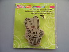STAMPENDOUS RUBBER STAMPS CLING EASTER CUPCAKE STAMP