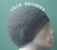 100%Wool Bluish Grey Irie Heights Beanie Hat Ski, Surf,Skater Rasta Tam One Size