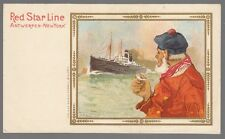 [53670] OLD CASSIERS POSTCARD RED STAR LINE B-3 VARIENT (PRIVATE MAILING CARD)