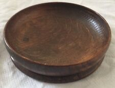 Oriental carved, bowl-shaped wooden stand 144mm Diameter .