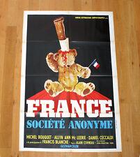 FRANCE SOCIéTé ANONYME manifesto poster affiche Michel Bouquet Flag Peluche