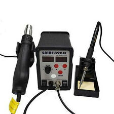 SMD Rework Soldering Station 2 in 1 HOT AIR GUN&Solder IRON Saike 898D 220V/110V