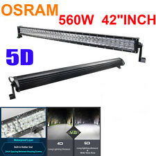 "560W 5D 42""INCH LED Spot &Flood Combo Work Light Bar Offroad Driving Lamp Xmas!"