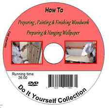 How to Prepare, Paint & Finish Woodwork Prepare & Hang Wallpaper DVD - DIY guide