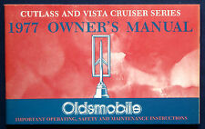 Owner's Manual Betriebsanleitung 1977  Oldsmobile Cutlass + Vista Cruiser  (USA)