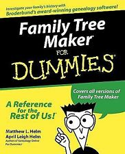 Family Tree Maker for Dummies by Matthew L. Helm and April Leigh Helm (1999,...