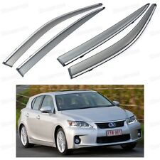 Front & Rear Car Window Visor Deflectors Vent Shade for Lexus CT 200h 2011-2016