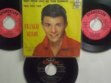 LOT OF 4 FRANKIE AVALON HIT45's+1PS[Don't Throw Away Those Tearsdrops]50's&60's!