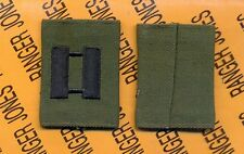 US ARMY Captain CPT OD Green & Black slip on rank patch