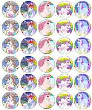 x 30 Unicorn Horse Personalised Cupcake Toppers Edible Wafer Paper