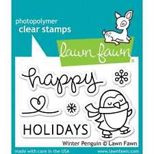 NEW LAWN FAWN WINTER PENGUIN CLEAR ACRYLIC STAMP SET