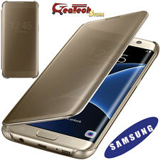 Clear View Cover Originale P Samsung Galaxy S7 Edge G935F Custodia Slim Oro Gold