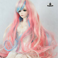 "9-10"" 1/3 BJD Wig 70cm BJD Wig Dollfie SOOM Luts MID DOD SD Mix Colors Hair 121"