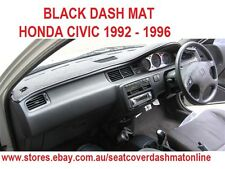 BLACK DASH MAT, DASHMAT,DASHBOARD COVER  HONDA CIVIC 1992-1996,HATCH BACK,SEDAN