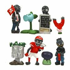 8 Plants v Zombies Action Figures Grave Buster PVC Toy Set Kid Cake Topper Decor