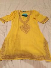 Melissa Odabash Briony  Yellow cover Up Dress Women Sz M