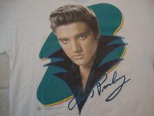 Vintage 1990's ELVIS PRESLEY 1998 Fan Rockabilly White T Shirt Adult XL