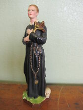 Vintage Saint Gerard of Majella Statue Figure Priest Image Father Likeness