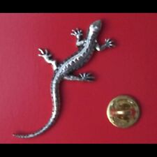 English Pewter LIZARD Pin Badge Tie Pin / Lapel Badge - XTSBPC08