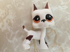 Littlest Pet Shop RARE Great Dane Dog Puppy #750 White Chocolate Brown White LPS