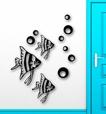 Wall Stickers Vinyl Decal Fish For Bathroom Ocean Marine Sea Home Decor (ig1569)