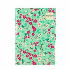 A5 Cherry Notepad Spiral Pad - Book 80gsm Lined  Page Paper Notebook Tabbed