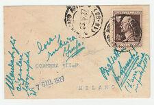 STORIA POSTALE 1932 REGNO VOLTA C.60 SU PICCOLA BUSTA Z/1010