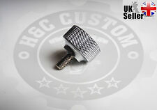 "1/4""-20 thread Knurled Seat Bolt Screw QUALITY Thumbscrew For Harley Davidson"