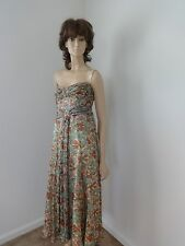 NWT $325 NANETTE LEPORE SILK STRAPLESS  WITH BUSTER FULL LENGTH DRESS SIZE 4