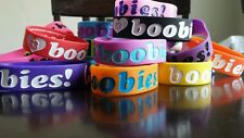 I Love Heart boobies! Huge lot with neon set 20 bracelets