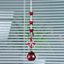 Home Decor Red Crystal Ball Suncatcher Prisms Pendant Hanging Drop Feng Shui