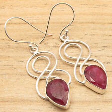 Low Price Cut Red RUBY Earrings, 925 Silver Plated ONLINE SALE SHOPPING Jewelry