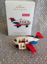 2010 HALLMARK ORNAMENT FISHER PRICE PLAY FAMILY FUN JET AIRPLANE PLANE OPENS!