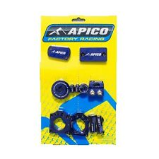 KAWASAKI KX250F KX450F  APICO BLING PACK BLUE INC BRAKE CLAMP AXLE BLOCKS