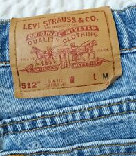 Vtg Levis 512 Denim Jeans Womens High Waist Slim Fit Tapered Leg Pants Sz 12 R