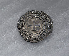 CRUSADERS TRIPOLI BOHEMOND VII 1275 -1287 SILVER GROS, GROSS GREAT CONDITION