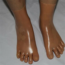 Latex Skin Toe Socks Gummi 0.4mm Unisex Socks Unique New Skin Toe SIZE M